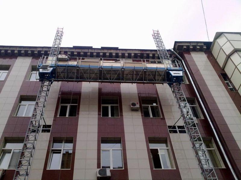 Двухмачтовая фасадная платформа Т-30, высота подъема 50 м