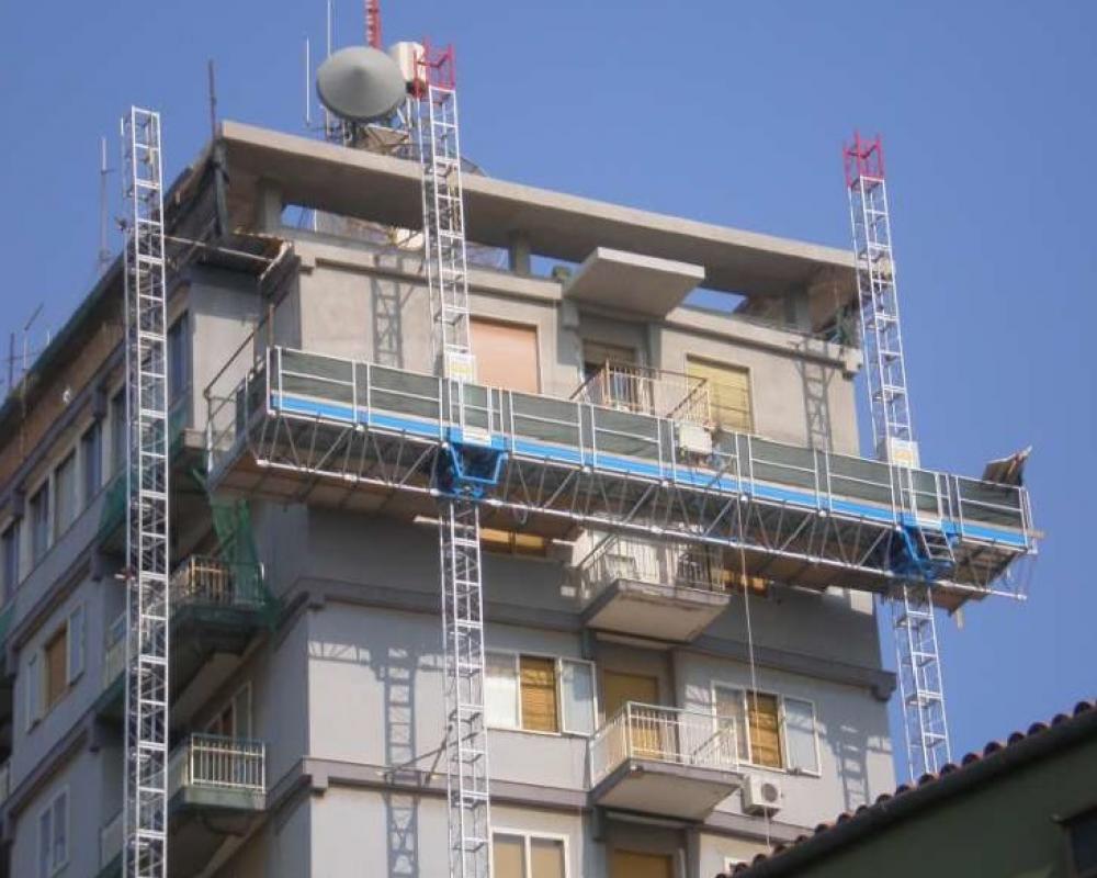 Фасадная рабочая платформа Т-30 биколонна, высота подъема до 30 м  - 0