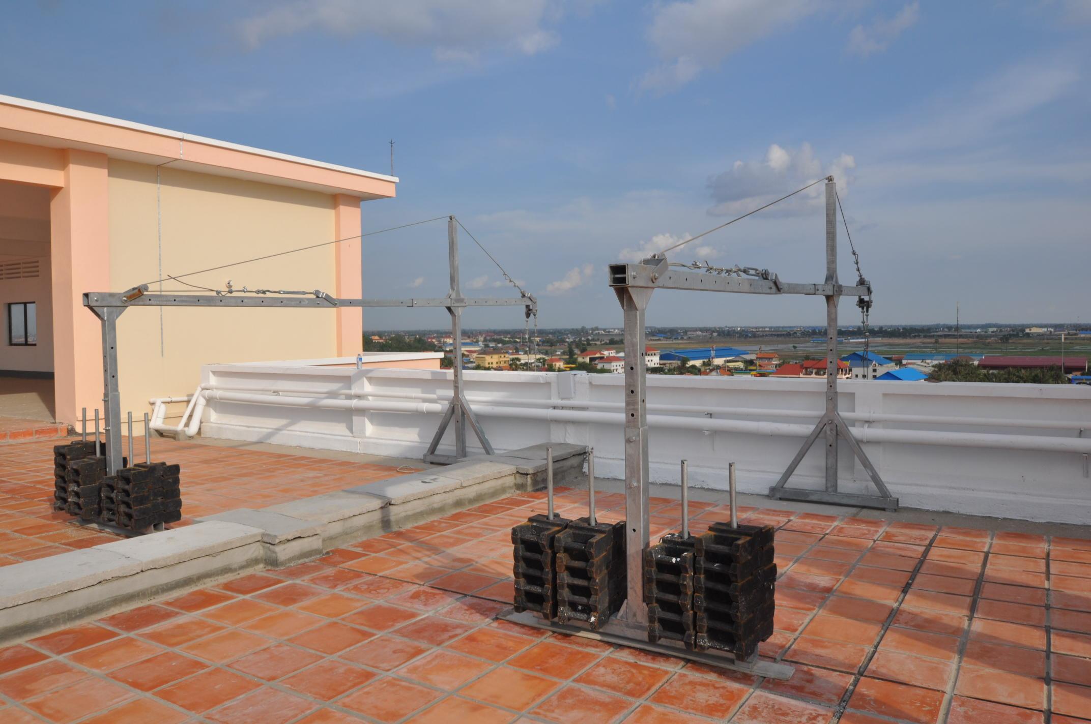 Люлька для строительных работ ZLP-800, длина корзины 6 м - 0